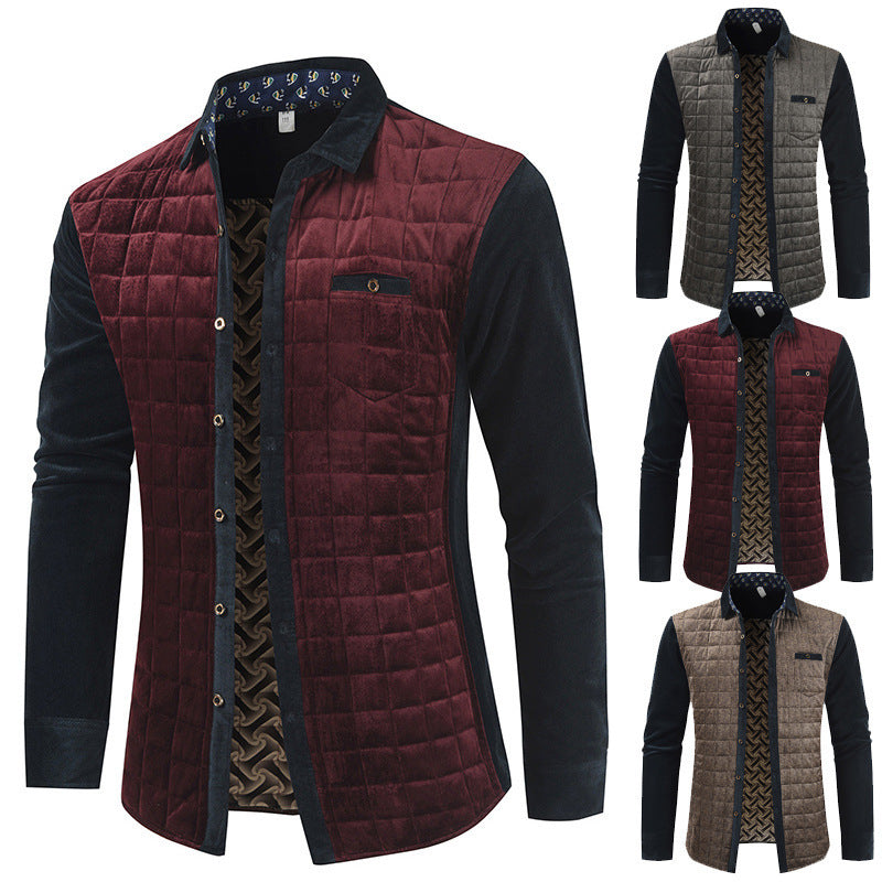 Men Casual Jacket Color Block Jacket
