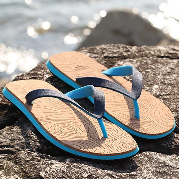 Men Yoga Mat Sole Beach Flip Flops Sandal