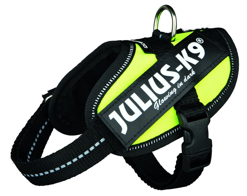 14817 Julius-K9� IDC Powerharness, Baby 2/XS-S: 33-45 cm/18 mm, neon yellow