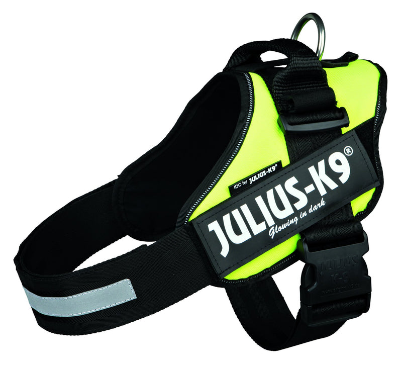 14857 Julius-K9� IDC Powerharness, 1/L: 63-85 cm/50 mm, neon yellow