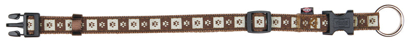 15966 Modern Art collar Coffee, M–L: 35–55 cm/20 mm, mocca/brown