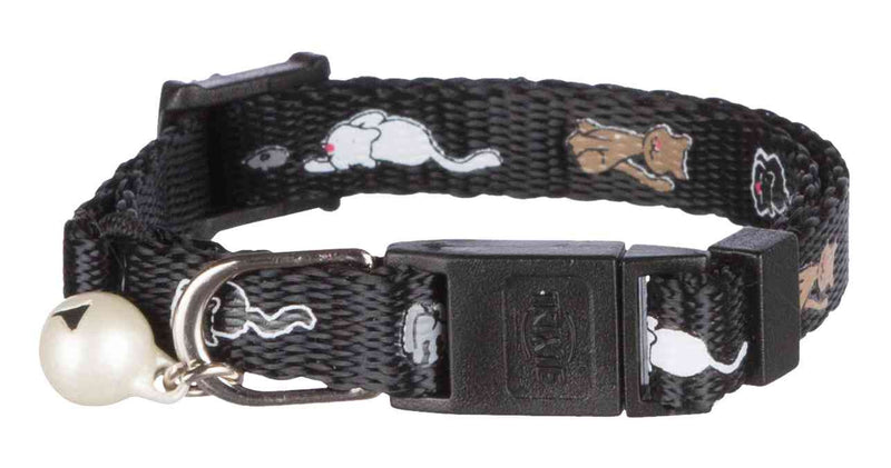 4178 Junior cat collar, cat motif,