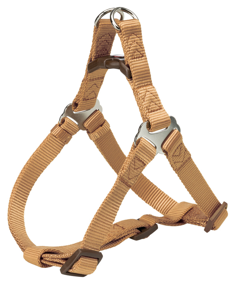 204514 Premium One Touch harness, M: 50-65 cm/20 mm, caramel