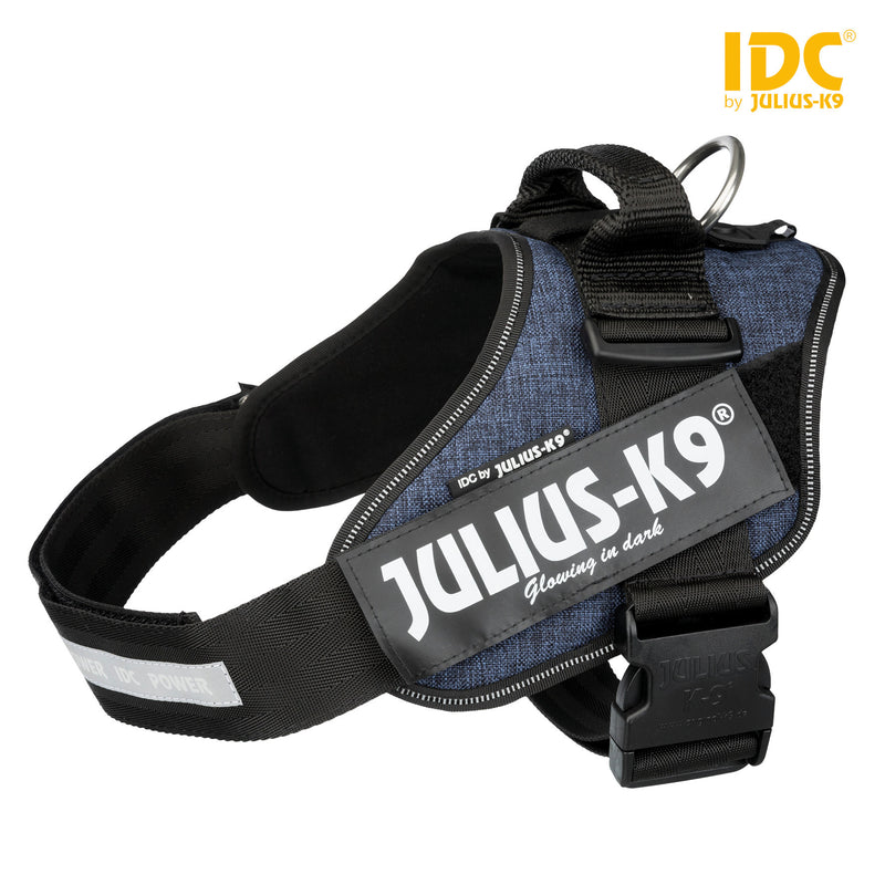 14855 Julius-K9� IDC Powerharness, 1/L: 63-85 cm/50 mm, jeans