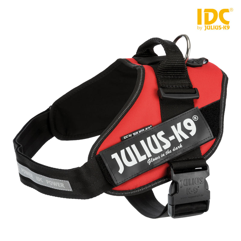 14863 Julius-K9� IDC Powerharness, 2/L-XL: 71-96 cm/50 mm, red