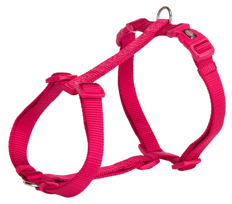 203311 Premium H-harness, S-M: 42-60 cm/15 mm, fuchsia