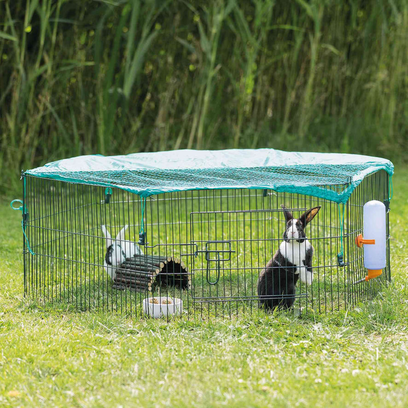 6242 natura outdoor run for young animals with net, diam. 116 x 38 cm