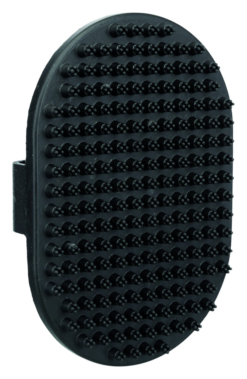 2333 Massage brush with hand-loop, rubber, 9 x 13 cm