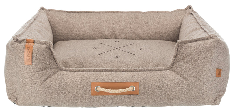 37607 BE NORDIC Föhr Soft bed, 100 × 80 cm, sand