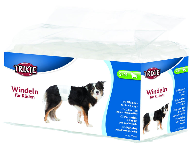 23641 Diapers for male dogs, S-M, 12 pcs.