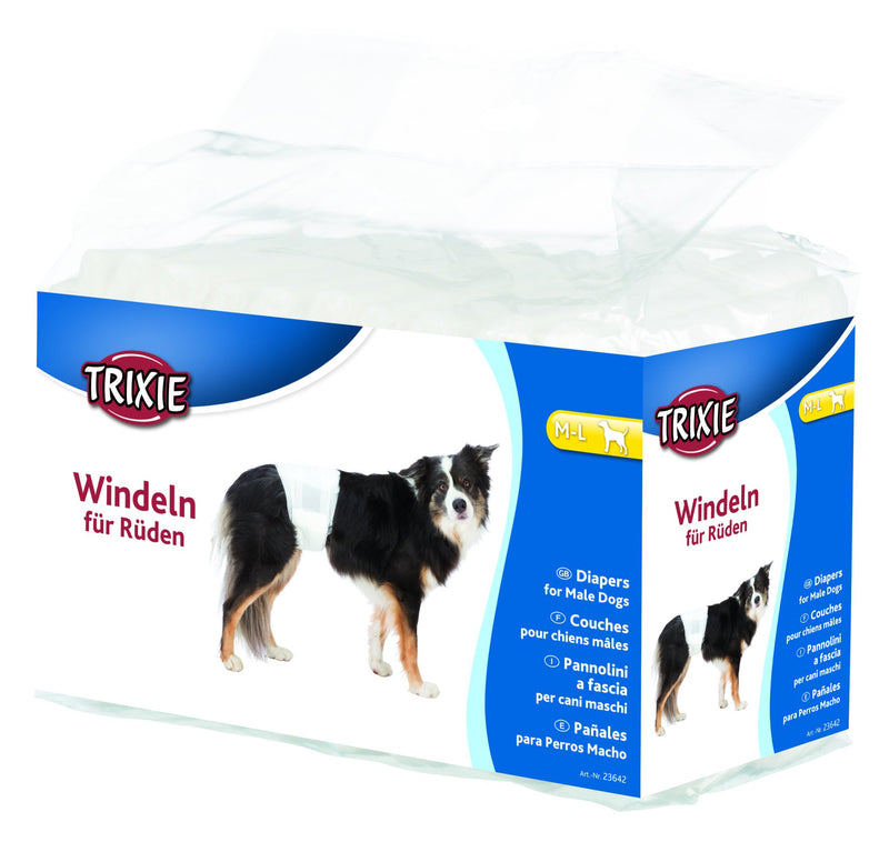 23642 Diapers for male dogs, M-L, 12 pcs.