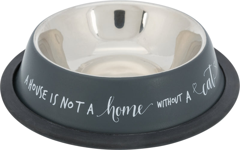 25141 Bowl, stainless steel/rubber base ring, 0.2 l/ 15 cm, grey