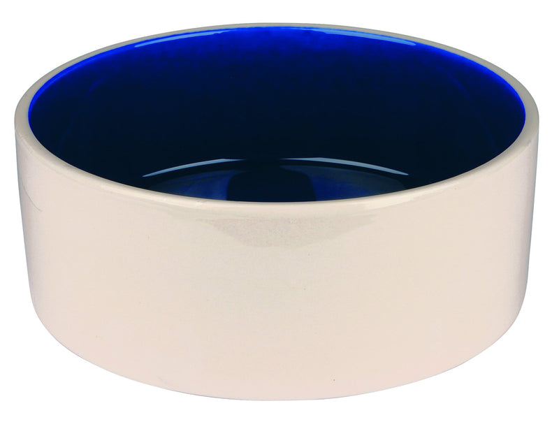 2452 Ceramic bowl, 2.3 l/diam. 22 cm, cream/blue