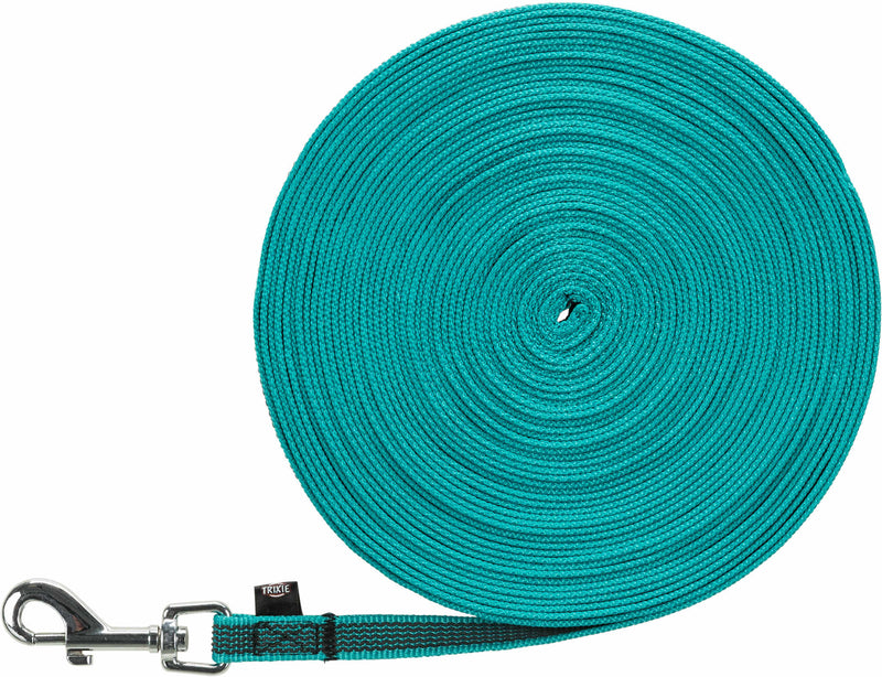 19782 Tracking leash, 15 m/15 mm, turquoise