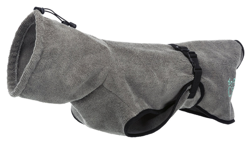 23575 Bathrobe for dogs, terry cloth, XL: 70 cm, grey