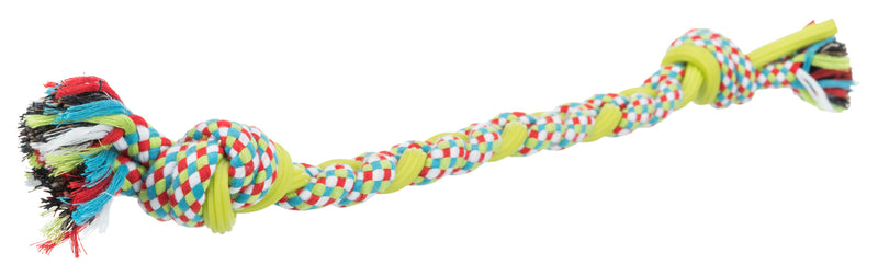 35698 Playing rope, cotton/TPR, 50 cm