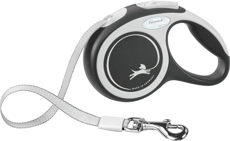 213401 flexi New COMFORT, tape leash, S: 5 m, black
