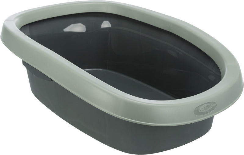 40211 Be Eco Carlo cat litter tray, with rim, 31 x 14 x 43 cm, anthracite/grey-green