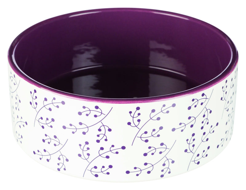 25125 Ceramic bowl, 1.4 l/diam. 20 cm, white/berry