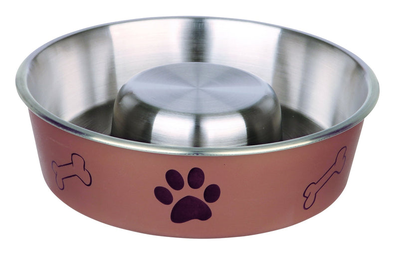 25249 Slow Feed stainless steel bowl, plastic coated, 1.4 l/diam. 21 cm
