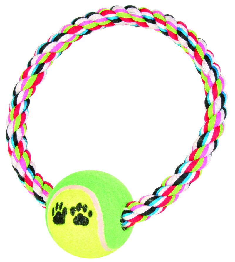 3266 Rope ring with tennis ball, diam. 6 cm/diam. 18 cm