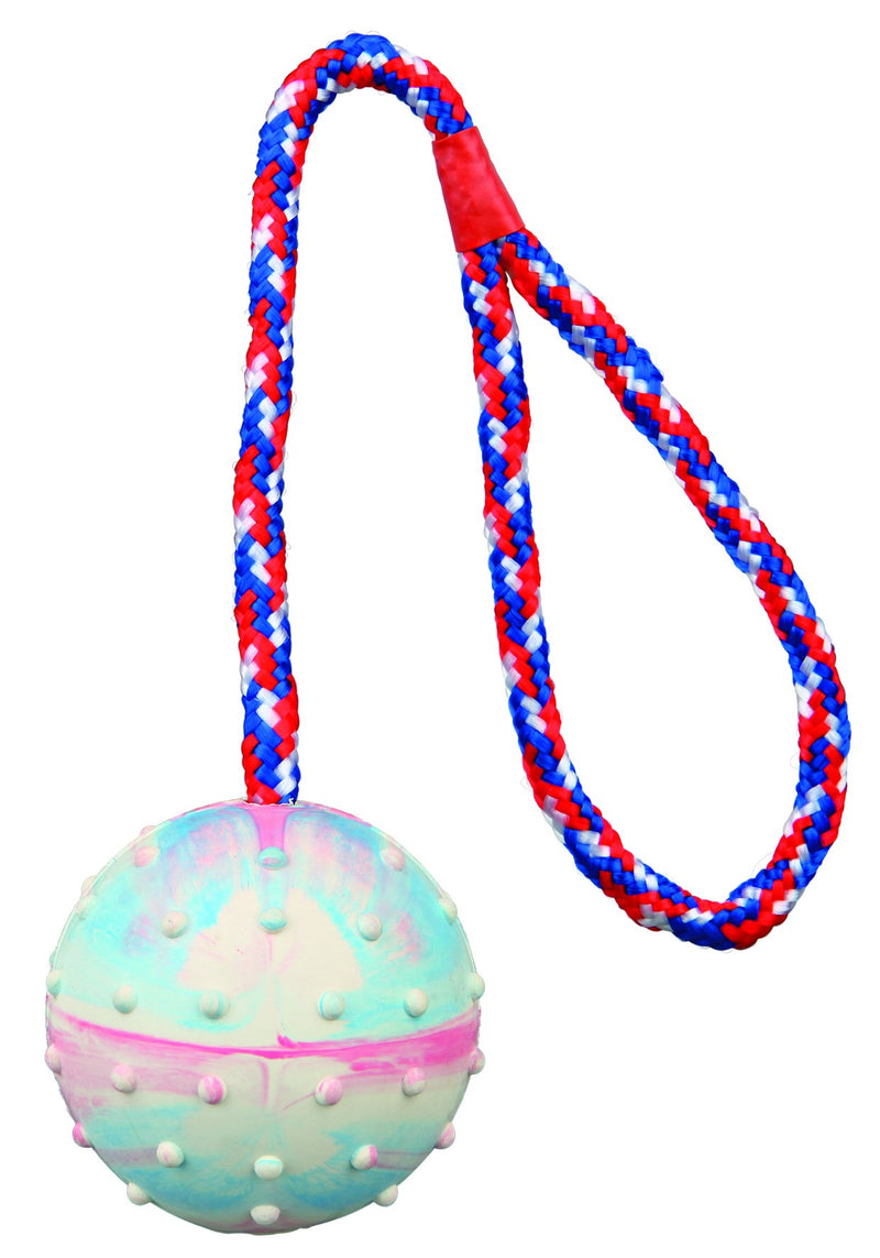 3454 24 balls on a rope, natural rubber, diam. 6 cm/30 cm