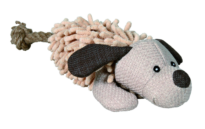 35930 Dog with rope, fabric/plush, 30 cm