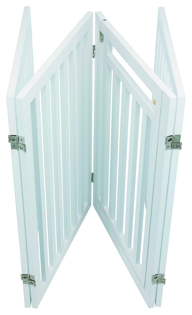 39363 Barrier, with door, 60-160 x 81 cm, white