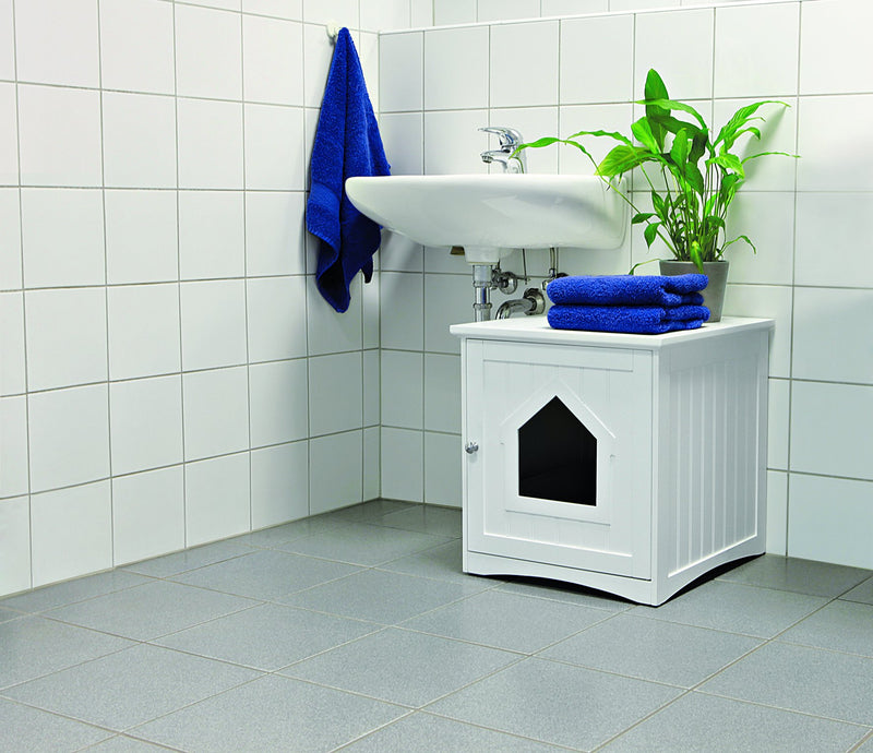40290 House for cat toilets, 49 x 51 x 51 cm, white