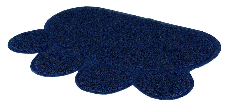 40383 Cat litter tray mat, paw, PVC, 60 x 45 cm, dark blue