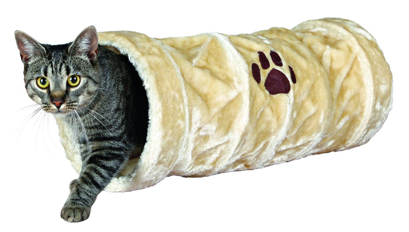 42981 Playing tunnel, plush, diam. 22 x 60 cm, beige