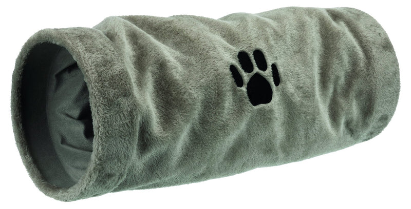 42982 Playing tunnel, plush, diam. 22 x 60 cm, grey