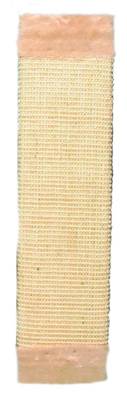 43071 Scratching board with plush, 15 x 62 cm, natural/beige