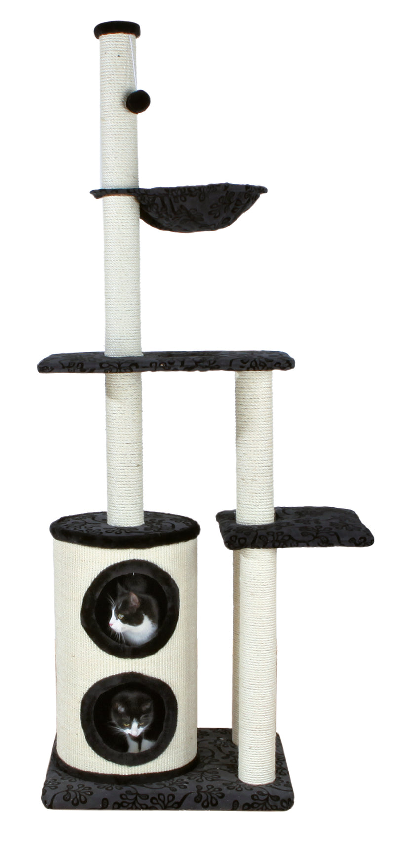 43667 Maqueda scratching post, 192 cm, black/natural