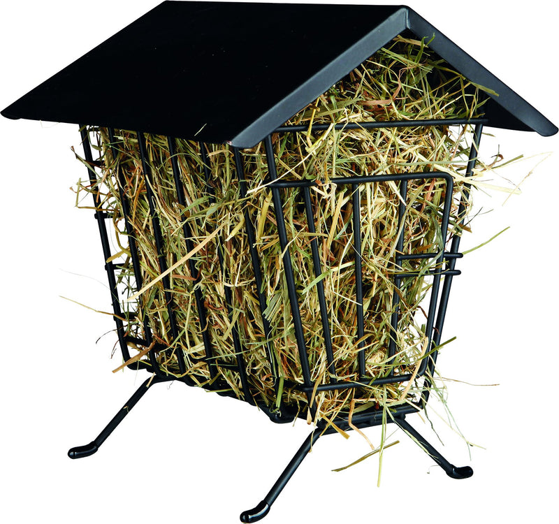 60909 Standing hay manager, metal, 20 x 23 x 20 cm, black