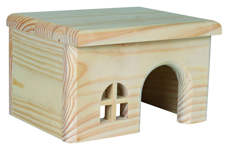 61261 Wooden house for hamsters, 15 x 12 x 15 cm