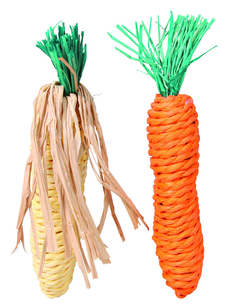 6192 Carrot and corn cab, straw, 15 cm, 2 pcs.