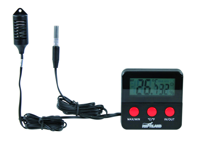 76114 Digital thermo-/hygrometer with remote sensor, 6 x 6 cm