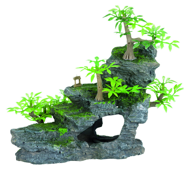 8852 Rock stairs with plants, 19 cm