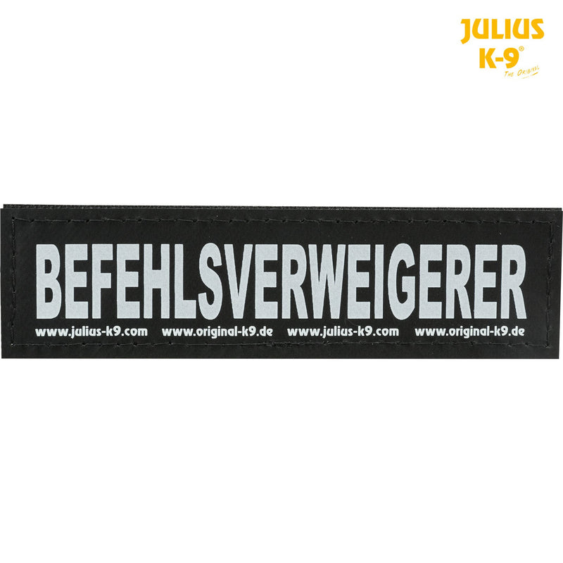 151004 2 Julius-K9® attachable labels, S, BEFEHLSVERWEIGERER