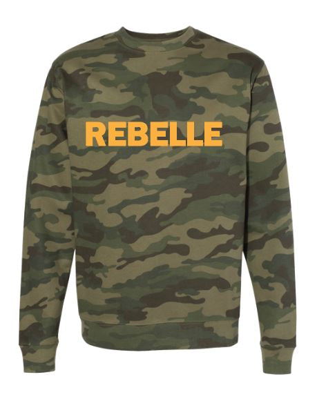 The Velvet Rebelle Custom Unisex Camo Crew
