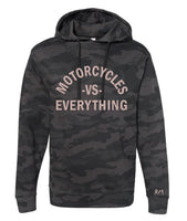 The VS Everything Custom Black Camo Unisex Hoodie