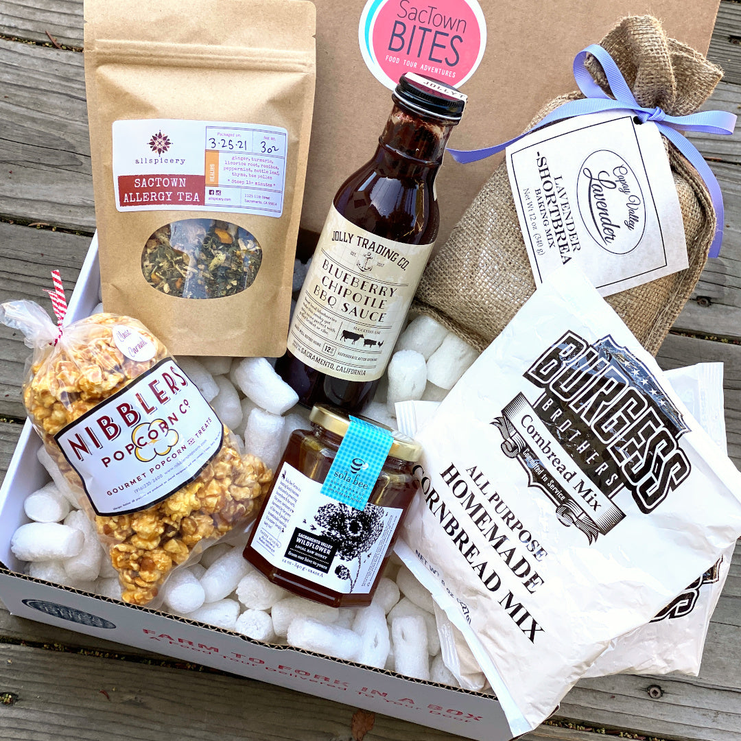April Farm to Fork in a Box - artisan foods, subscription box, custom gifts, locally sourced