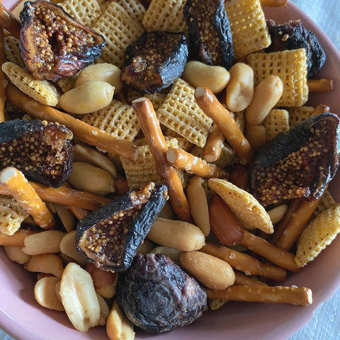 Snack mix with Sun Dried Figs from Full Belly Farm, Guinda, California