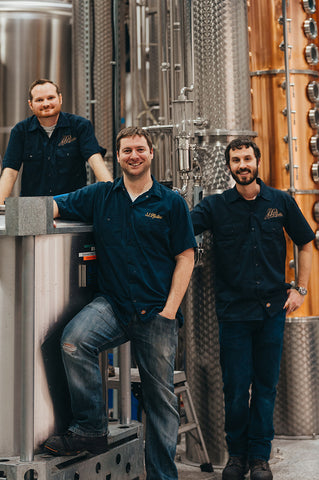 J.J. Distilling Company Master Distillers Brian Keck, Chris Johnson and Mike Moore