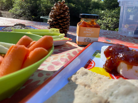 The Good Stuff - Chili Apricot Jam on cheese