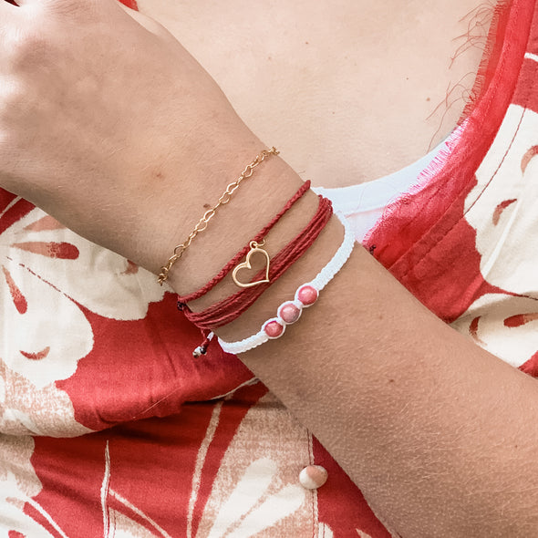 Red and Gold Bracelet set