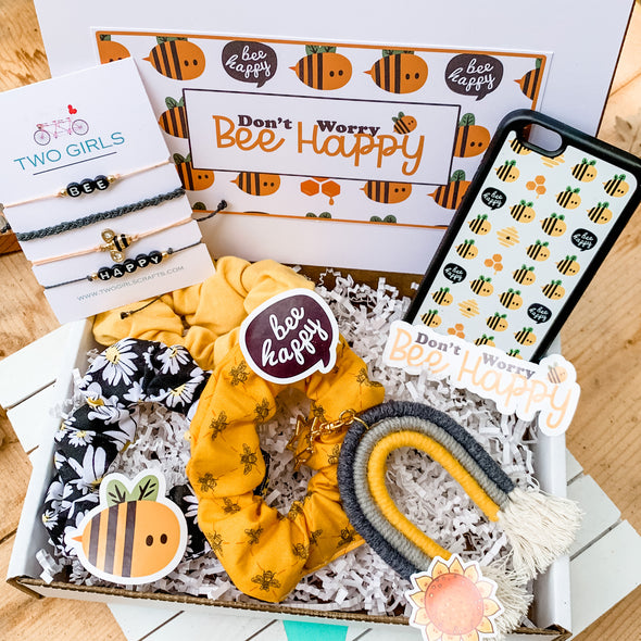 Don't Worry, Bee Happy gift set