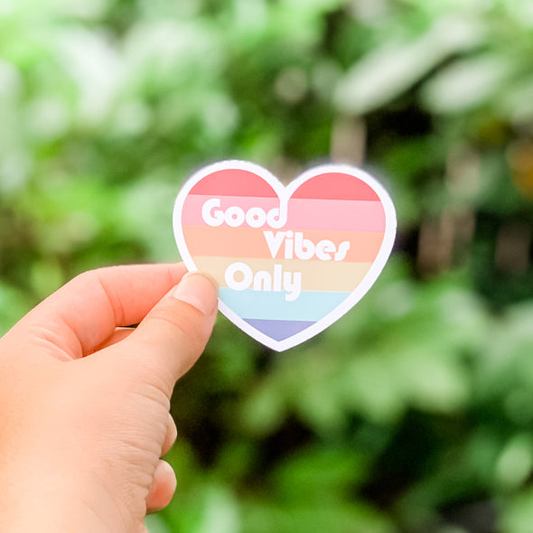 Good Vibes Heart sticker