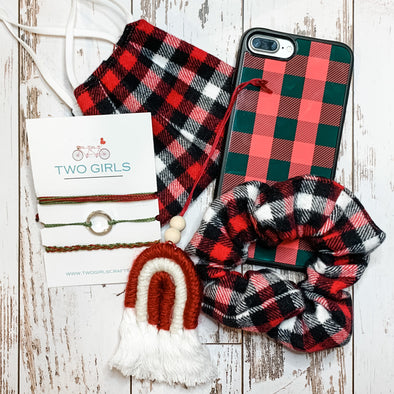 Black and Red Check Gift Set